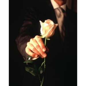 man holding rose