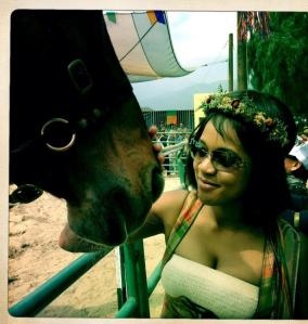 A garland, a bodice and a horse, oh my! Pretty much a perfect Oreo day.
