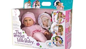 There are worse things than wanting an uberwench looking doll. Like wanting this one. It breast feeds. On children.